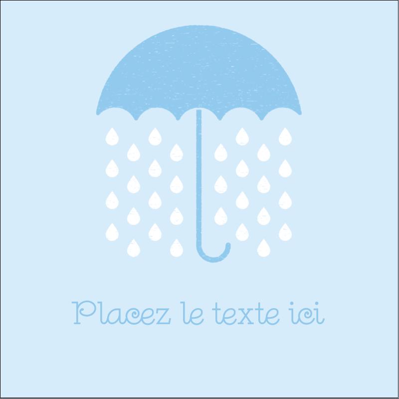 """1½"""" x 1½"""" Étiquettes carrées - Parapluie pour bébé"""