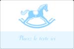 Cheval à bascule Étiquettes rectangulaires - gabarit prédéfini. <br/>Utilisez notre logiciel Avery Design & Print Online pour personnaliser facilement la conception.