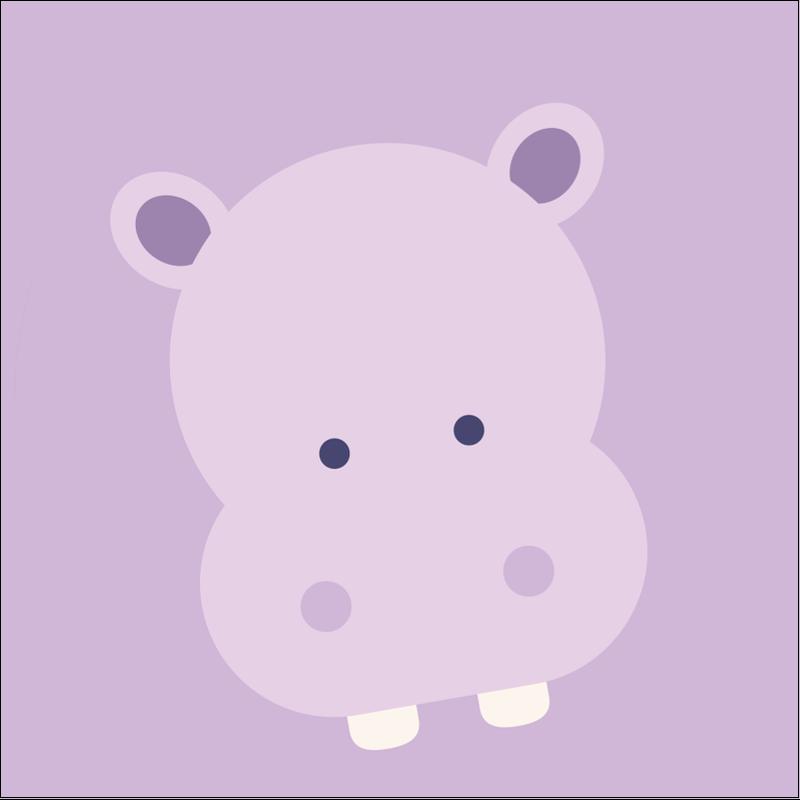 """1½"""" x 1½"""" Étiquettes carrées - Bébé safari"""