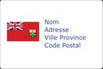 Drapeau de l'Ontario  Étiquettes rectangulaires - gabarit prédéfini. <br/>Utilisez notre logiciel Avery Design & Print Online pour personnaliser facilement la conception.
