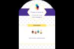 Fournitures d'anniversaire Étiquettes arrondies - gabarit prédéfini. <br/>Utilisez notre logiciel Avery Design & Print Online pour personnaliser facilement la conception.