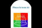 Gâteau d'anniversaire Étiquettes arrondies - gabarit prédéfini. <br/>Utilisez notre logiciel Avery Design & Print Online pour personnaliser facilement la conception.
