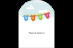Combinaisons pour bébé Étiquettes arrondies - gabarit prédéfini. <br/>Utilisez notre logiciel Avery Design & Print Online pour personnaliser facilement la conception.