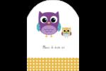 Bébé hibou Étiquettes arrondies - gabarit prédéfini. <br/>Utilisez notre logiciel Avery Design & Print Online pour personnaliser facilement la conception.