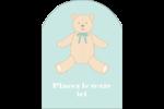 Nounours pour bébé Étiquettes arrondies - gabarit prédéfini. <br/>Utilisez notre logiciel Avery Design & Print Online pour personnaliser facilement la conception.