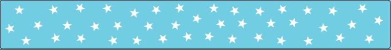 """9¾"""" x 1¼"""" Étiquettes enveloppantes - Étoiles avec tons bleus et jaunes"""
