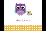 Bébé hibou Étiquettes rectangulaires - gabarit prédéfini. <br/>Utilisez notre logiciel Avery Design & Print Online pour personnaliser facilement la conception.