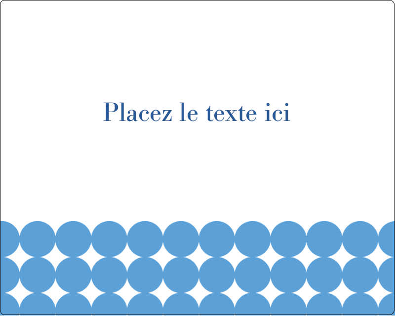 """3"""" x 3¾"""" Étiquettes rectangulaires - Cercles bleus"""