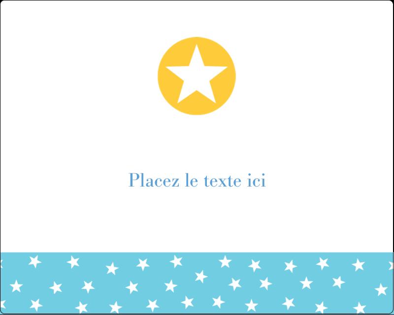 """3"""" x 3¾"""" Étiquettes rectangulaires - Étoiles avec tons bleus et jaunes"""