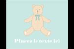 Nounours pour bébé Étiquettes rectangulaires - gabarit prédéfini. <br/>Utilisez notre logiciel Avery Design & Print Online pour personnaliser facilement la conception.