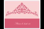 Diadème rose Étiquettes rectangulaires - gabarit prédéfini. <br/>Utilisez notre logiciel Avery Design & Print Online pour personnaliser facilement la conception.