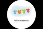 Combinaisons pour bébé Étiquettes rondes gaufrées - gabarit prédéfini. <br/>Utilisez notre logiciel Avery Design & Print Online pour personnaliser facilement la conception.