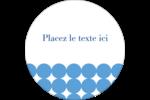 Cercles bleus Étiquettes rondes gaufrées - gabarit prédéfini. <br/>Utilisez notre logiciel Avery Design & Print Online pour personnaliser facilement la conception.