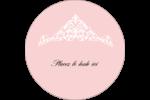 Diadème rose Étiquettes rondes - gabarit prédéfini. <br/>Utilisez notre logiciel Avery Design & Print Online pour personnaliser facilement la conception.