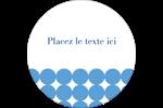 Cercles bleus Étiquettes rondes - gabarit prédéfini. <br/>Utilisez notre logiciel Avery Design & Print Online pour personnaliser facilement la conception.