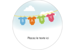 Combinaisons pour bébé Étiquettes rondes - gabarit prédéfini. <br/>Utilisez notre logiciel Avery Design & Print Online pour personnaliser facilement la conception.