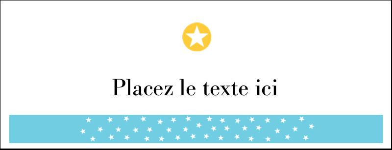 """1-7/16"""" x 3¾"""" Affichette - Étoiles avec tons bleus et jaunes"""