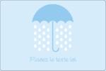 Parapluie pour bébé Étiquettes rectangulaires - gabarit prédéfini. <br/>Utilisez notre logiciel Avery Design & Print Online pour personnaliser facilement la conception.