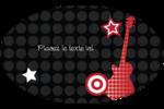 Guitare d'anniversaire Étiquettes ovales - gabarit prédéfini. <br/>Utilisez notre logiciel Avery Design & Print Online pour personnaliser facilement la conception.