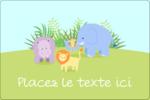 Bébé safari Étiquettes rectangulaires - gabarit prédéfini. <br/>Utilisez notre logiciel Avery Design & Print Online pour personnaliser facilement la conception.