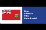 Drapeau de l'Ontario  Étiquettes D'Adresse - gabarit prédéfini. <br/>Utilisez notre logiciel Avery Design & Print Online pour personnaliser facilement la conception.