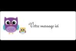 Bébé hibou Étiquettes D'Adresse - gabarit prédéfini. <br/>Utilisez notre logiciel Avery Design & Print Online pour personnaliser facilement la conception.