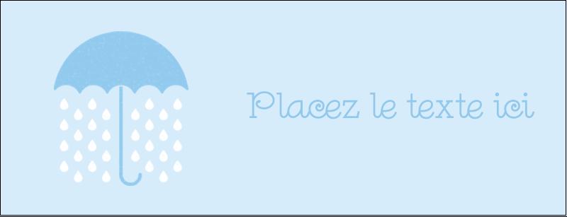 """1-7/16"""" x 3¾"""" Affichette - Parapluie pour bébé"""