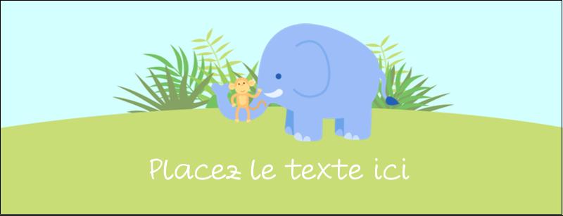 """1-7/16"""" x 3¾"""" Affichette - Bébé safari"""