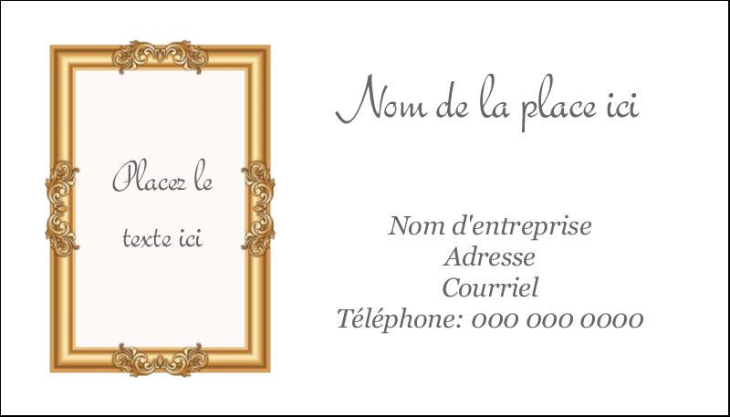 """2"""" x 3½"""" Carte d'affaire - Galerie d'art"""