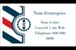 Enseigne de barbier audacieuse Carte d'affaire - gabarit prédéfini. <br/>Utilisez notre logiciel Avery Design & Print Online pour personnaliser facilement la conception.