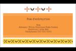 Fleurs orange géométriques Carte d'affaire - gabarit prédéfini. <br/>Utilisez notre logiciel Avery Design & Print Online pour personnaliser facilement la conception.