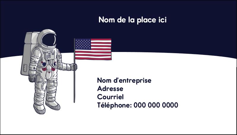 "2"" x 3½"" Carte d'affaire - Astronaute"