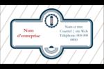 Enseigne de barbier Carte d'affaire - gabarit prédéfini. <br/>Utilisez notre logiciel Avery Design & Print Online pour personnaliser facilement la conception.