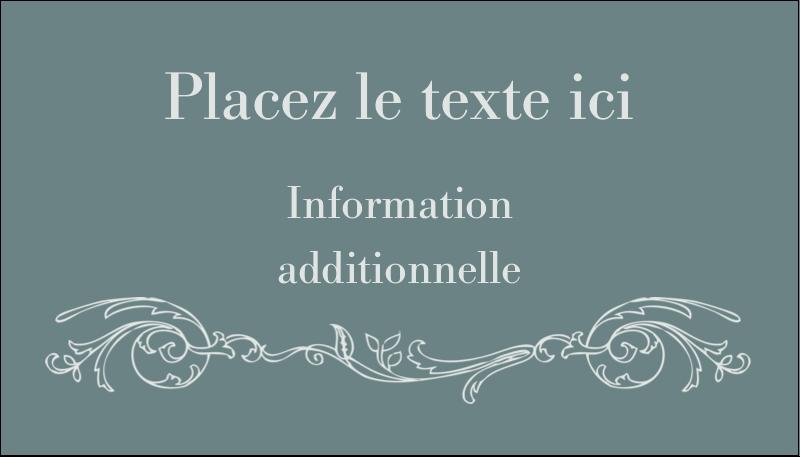 """2"""" x 3½"""" Carte d'affaire - Cachet français"""