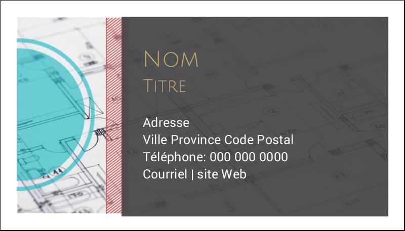 """2"""" x 3½"""" Carte d'affaire - Architecture"""