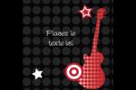 Guitare d'anniversaire Étiquettes carrées - gabarit prédéfini. <br/>Utilisez notre logiciel Avery Design & Print Online pour personnaliser facilement la conception.