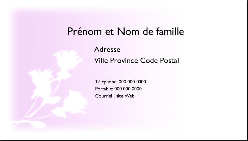"""2"""" x 3½"""" Cartes d'affaires - Trois fleurs"""