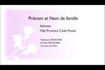 Trois fleurs Cartes d'affaires - gabarit prédéfini. <br/>Utilisez notre logiciel Avery Design & Print Online pour personnaliser facilement la conception.