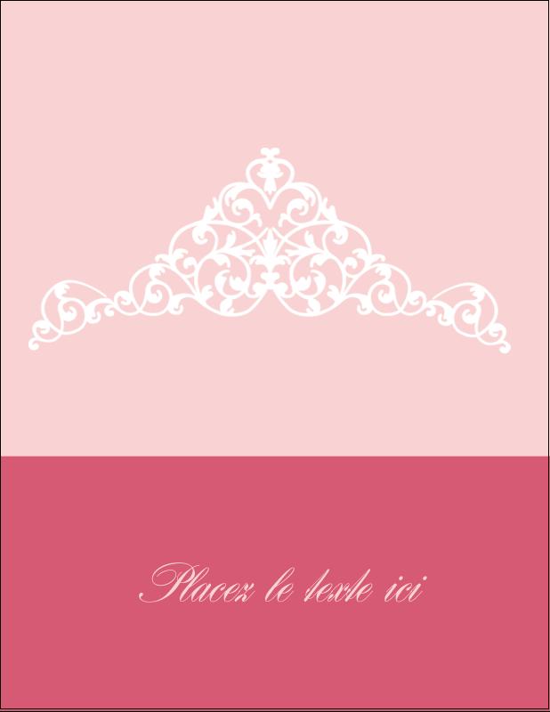 """5½"""" x 4¼"""" Carte Postale - Diadème rose"""