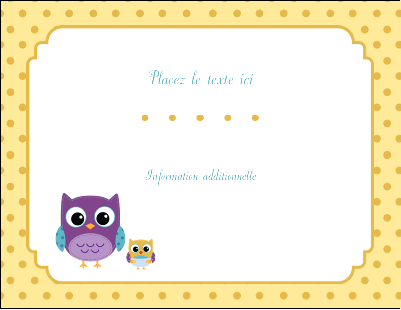 "4¼"" X 5½"" Carte Postale - Bébé hibou"