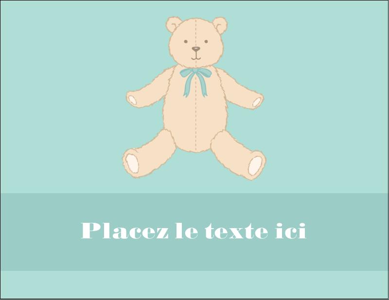 """4¼"""" X 5½"""" Carte Postale - Nounours pour bébé"""