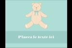 Nounours pour bébé Carte Postale - gabarit prédéfini. <br/>Utilisez notre logiciel Avery Design & Print Online pour personnaliser facilement la conception.