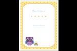 Bébé hibou Carte Postale - gabarit prédéfini. <br/>Utilisez notre logiciel Avery Design & Print Online pour personnaliser facilement la conception.