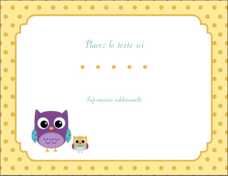 "5½"" x 4¼"" Carte Postale - Bébé hibou"