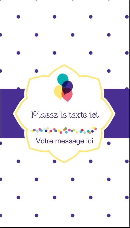 """3½"""" x 2"""" Carte d'affaire - Fournitures d'anniversaire"""