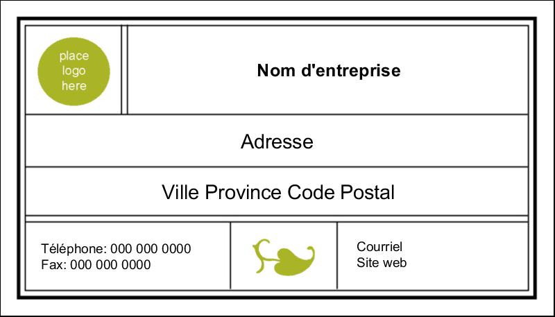 """2"""" x 3½"""" Carte d'affaire - Modernité"""