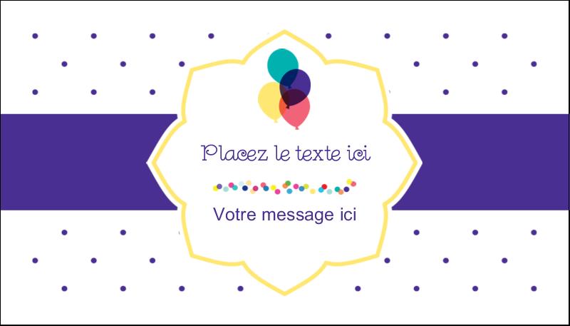 """2"""" x 3½"""" Carte d'affaire - Fournitures d'anniversaire"""