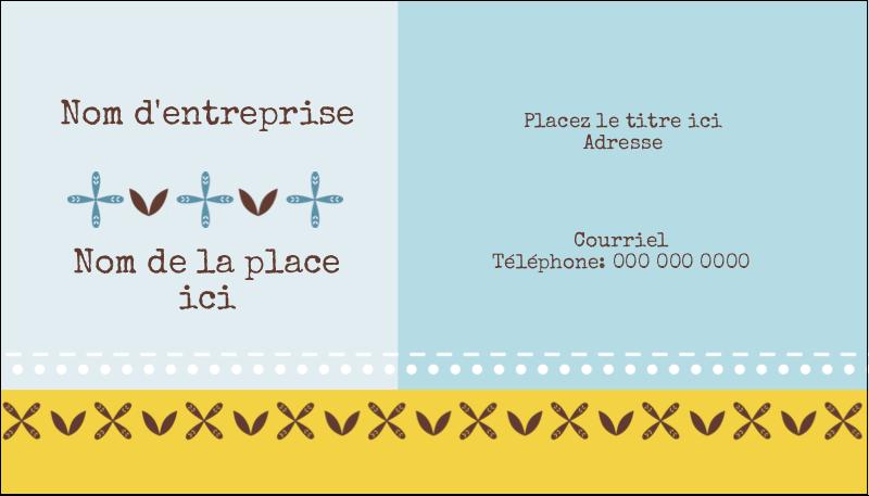 "2"" x 3½"" Carte d'affaire - Bain bleu"