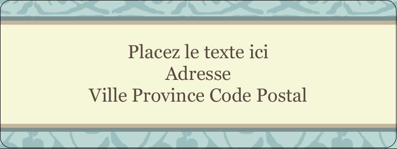 "⅔"" x 1¾"" Étiquettes D'Adresse - Vert d'antan"