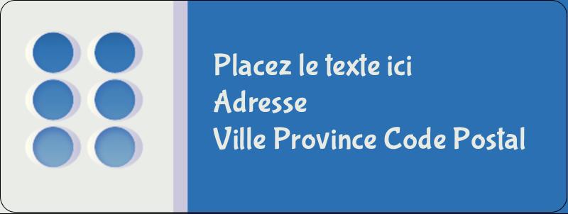 """⅔"""" x 1¾"""" Étiquettes D'Adresse - 4e étage"""